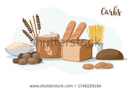 assortment of baked potatoes stock photo © m-studio