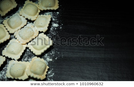 Hoop ruw voedsel achtergrond kok maaltijd Stockfoto © M-studio