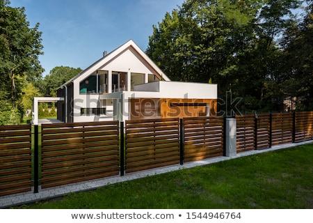 Kő kerítés öreg építkezés fal Stock fotó © guffoto