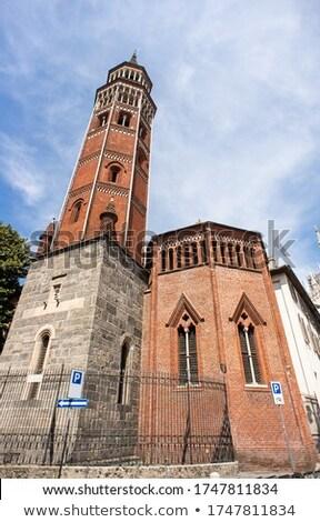 Stockfoto: Kerk · milaan · detail · gothic · bel