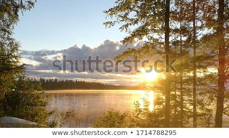 Blue Lake and Sky, sunrise Stock photo © Discovod