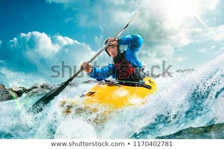 Kajak avontuur groene kaart strand klaar Stockfoto © hyrons