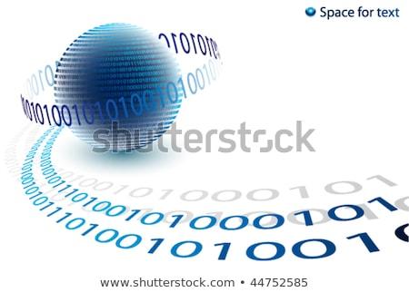 Adat bináris kód technológia folyam földgömb globális kommunikáció Stock fotó © fenton