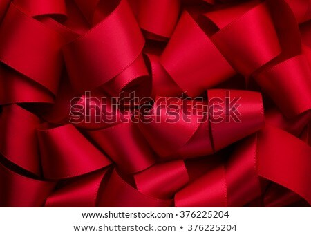 holiday background with red ribbon Stock photo © illustrart