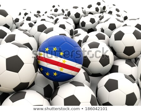 Flag of cape verde with football in front of it Stock photo © MikhailMishchenko