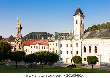 Stock photo: the plague column, Stefanik Square, Kremnica, Slovakia