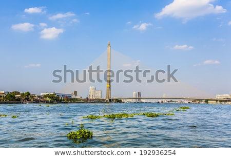 Brug rivier Bangkok bouw Stockfoto © meinzahn