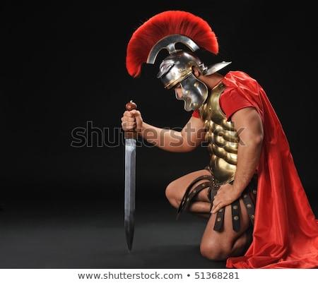 Stock photo: Handsome roman legionary soldier