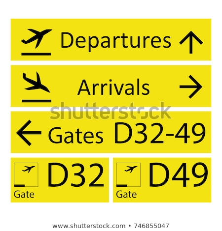 Stock photo: Airport gate sign.