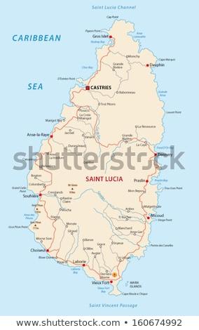 Map of Saint Lucia Stock photo © mayboro1964