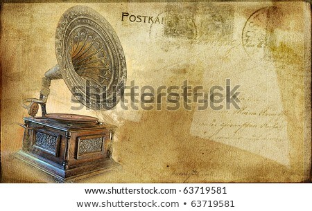 Vintage photo Old gramophone Stock photo © smuki