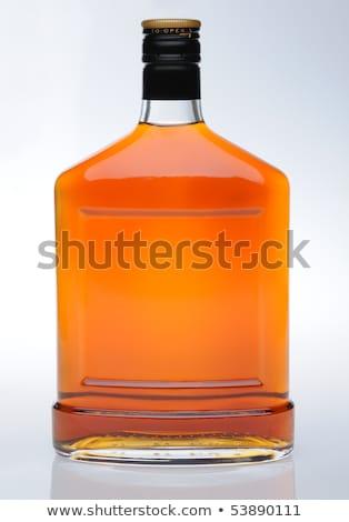 コニャック ボトル ラベル ガラス バー アルコール ストックフォト © ozaiachin