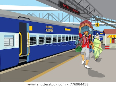 Indian railway platform Stock photo © ziprashantzi