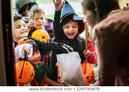 Хэллоуин трюк иллюстрация конфеты осень празднования Сток-фото © adrenalina