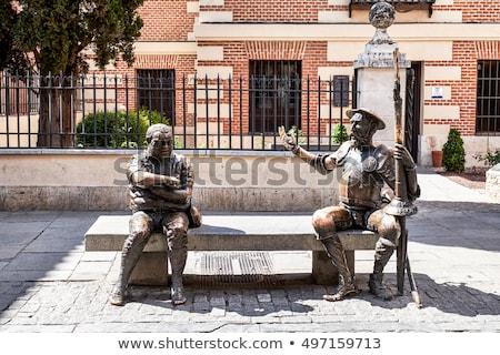 Cervantes Square in Alcala Stock photo © rmbarricarte