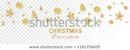 Gold Christmas decorations Stock photo © filipw