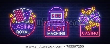 казино · игорный · жетоны · слово · украшенный · стороны - Сток-фото © netkov1