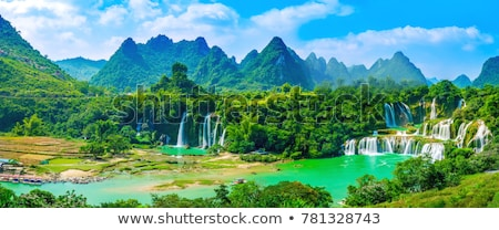 Waterfall on a mountain in the forest Stock photo © papa1266