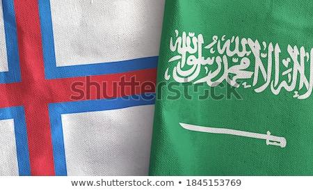 Arábia Saudita bandeiras quebra-cabeça isolado branco Foto stock © Istanbul2009