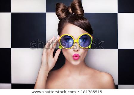 młodych · piękna · blond · kobiet · kreatywność · fryzura - zdjęcia stock © svetography