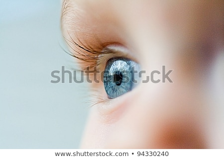 macro shot of childs eyes stock photo © zurijeta