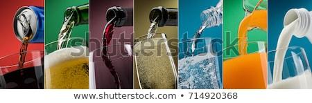 áramló ital folyadék üveg fekete stúdió Stock fotó © user_9834712