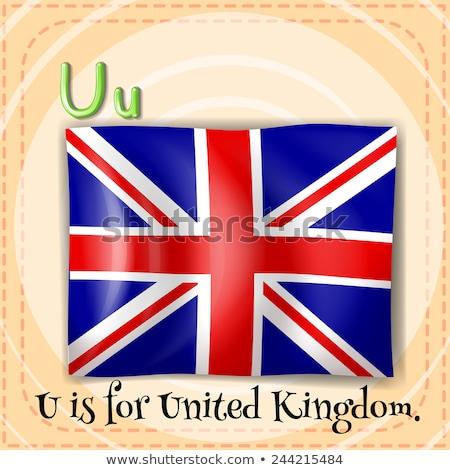 Lettera Regno Unito illustrazione bambino sfondo arte Foto d'archivio © bluering