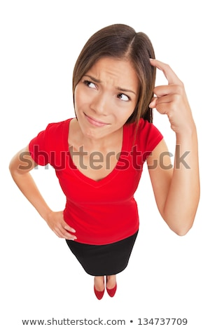 A woman with a lot of thoughts in her head Stock photo © bluering