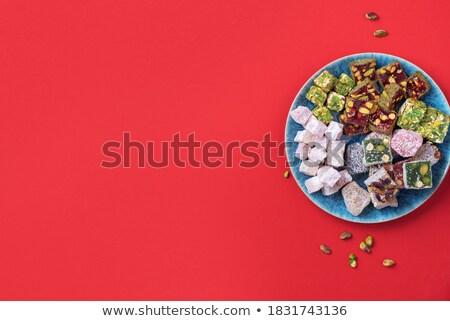 Plaka beyaz yatay görüntü ahşap şeker Stok fotoğraf © Koufax73