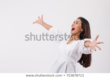 Beautiful Young Surprised and Excited Woman Stock photo © fouroaks