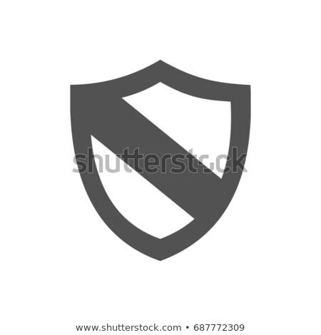 actief · bescherming · schild · icon · witte · ontwerp - stockfoto © imaagio