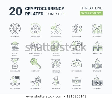 Stockfoto: Cryptocurrency Flat Icon