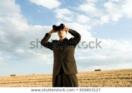 человека бинокль бизнеса небе продовольствие Сток-фото © IS2