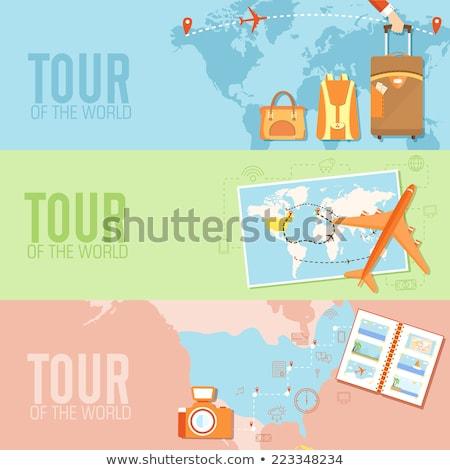 air travel money concept illustration design Stock photo © alexmillos