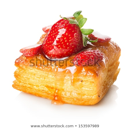 Puff Pastry Strawberry Pies Stock photo © mpessaris
