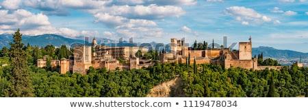 パノラマ アルハンブラ宮殿 スペイン 丘 建設 山 ストックフォト © Photooiasson