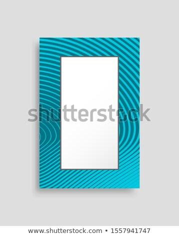Rectangulaire cadre photo contenant coloré bannière Photo stock © robuart