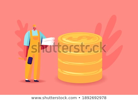 Person Holding Hardhat And Golden Coins Stock photo © AndreyPopov