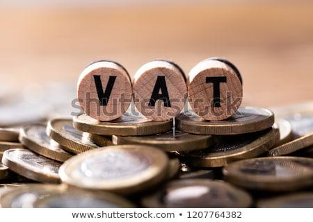 Vat Cubic Blocks On Many Coins Stock photo © AndreyPopov