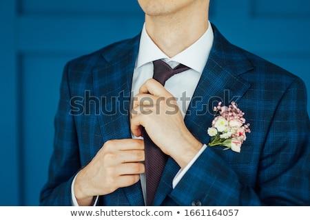 homem · amarrar · manhã · casamento · preparação - foto stock © ruslanshramko