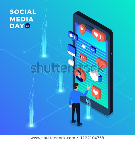social network poster icons vector illustration stock photo © robuart