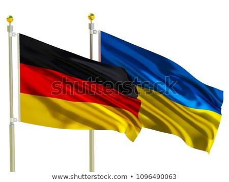 2 フラグ ドイツ ウクライナ 孤立した ストックフォト © MikhailMishchenko