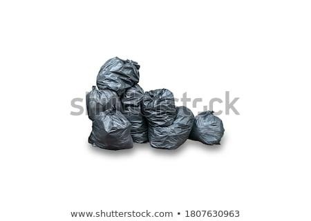 Geïsoleerd prullenbak container witte illustratie achtergrond Stockfoto © bluering