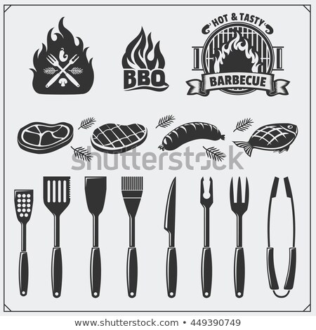 Stock photo: vector set of tongs