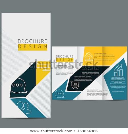 Brosúra ikon stílus brossúrák üzlet absztrakt Stock fotó © MarySan