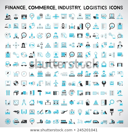 blue business icons design stock photo © lemony