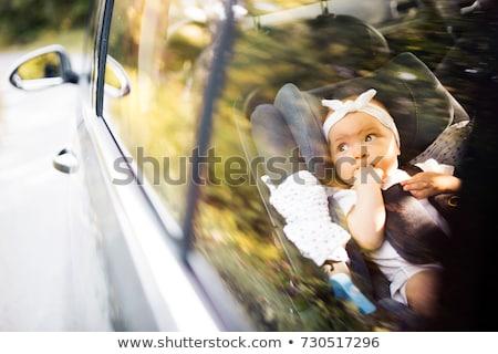 cute · jongen · vergadering · auto · zitting · baby - stockfoto © lopolo