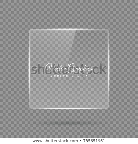 square glass banner template stock photo © romvo