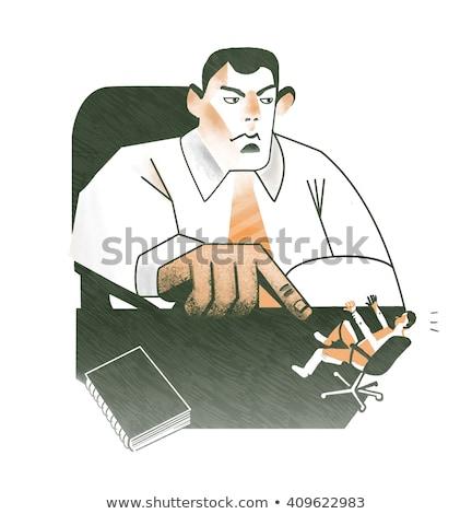 hombre · 3d · blanco · pared · ilustración · aislado - foto stock © wavebreak_media