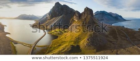 美しい アイスランド 緑 風景 空 雲 ストックフォト © iko